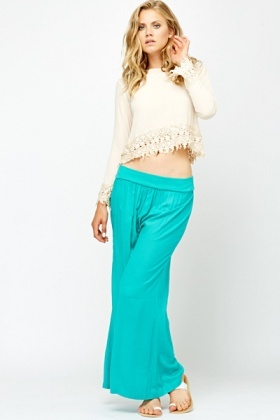 Turquoise Palazzo Trousers