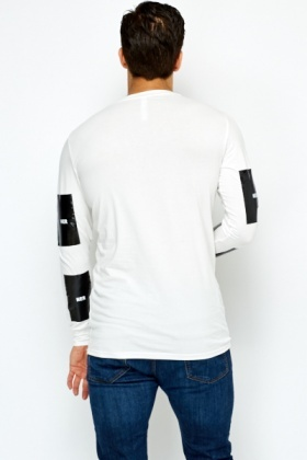 Cotton Long Sleeve PVC Insert Top
