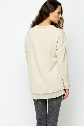 Cut Out Skull Contrast Jumper