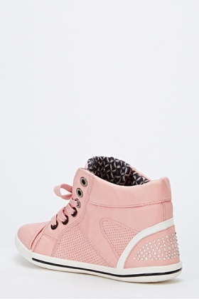 Encrusted Hi-Top Trainers