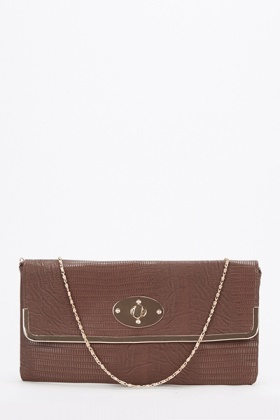 Textured Square Clutch Bag