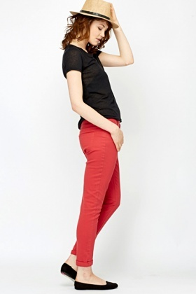Roll Up Hem Trousers