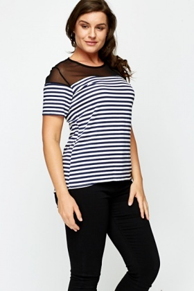 Mesh Striped Top