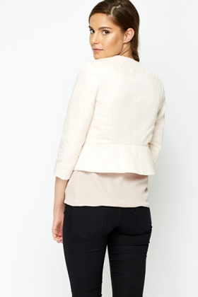 Peach Tailored Crop Jacket
