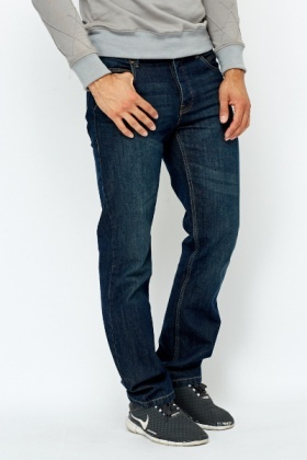 Slim Leg Bleach Wash Jeans