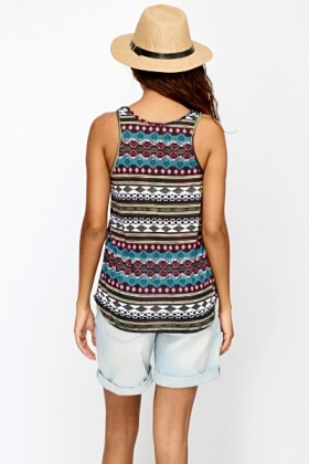 Multi Aztec Tank Top