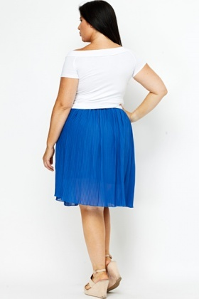 Royal Blue Pleated Skirt - Just £5