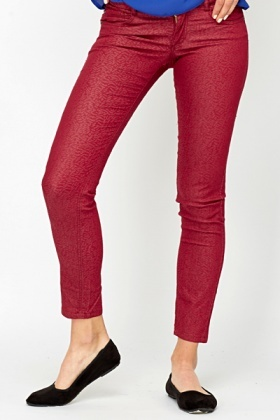 Printed Straight Leg Trousers