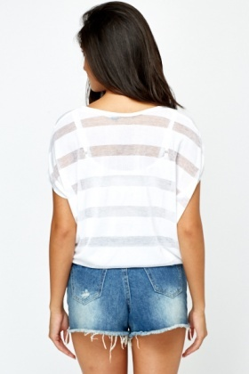 Stripy Mesh Top