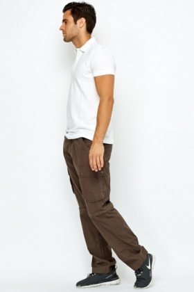 Khaki Zip Off Convertible Trousers