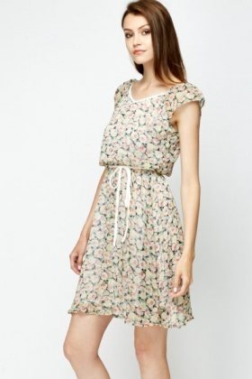 Rose Blouson Summer Dress