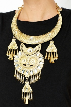 Statement Temple Necklace