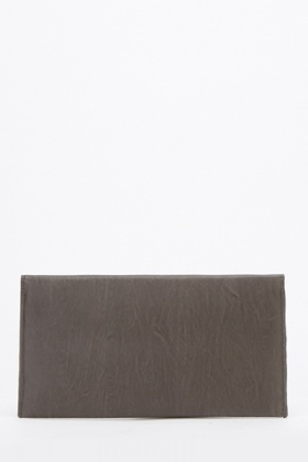 Faux Leather Envelope Clutch Bag