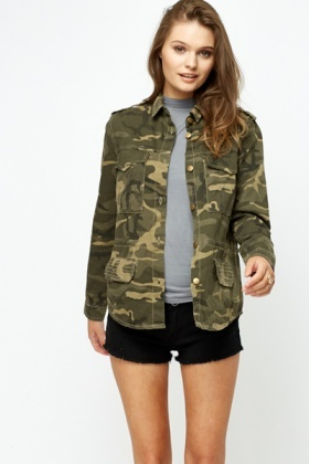 Camouflage Print Jacket Just 163 5