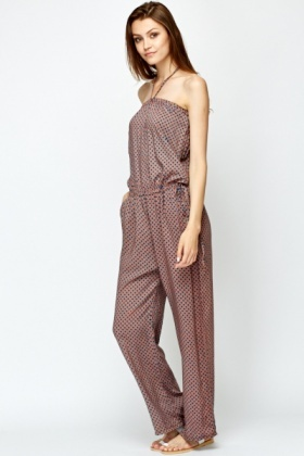 Strapless Printed Jumpsuit