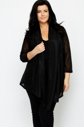 Black Waterfall Cardigan