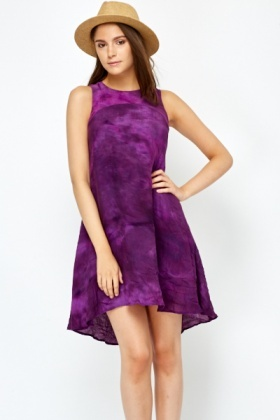 Ombre Purple Swing Dress