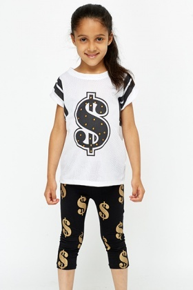 Studded Dollar Sign Top And Leggings