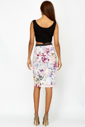 Tropical Multi Bodycon Skirt