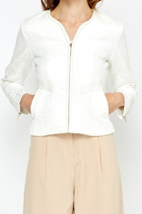 White Jacquard Jacket