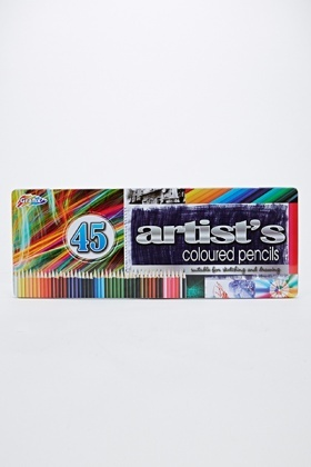 45 Coloured Pencil Set