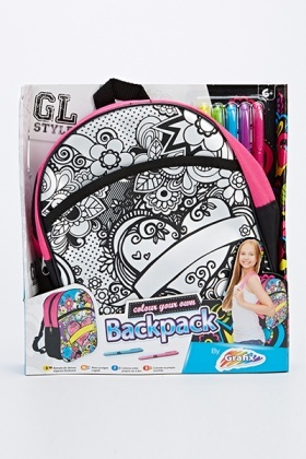 Colour Your Own Backpack Set