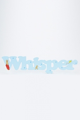 Decorative Wooden Whisper