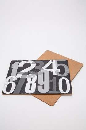 Numbered Dinner Plate Coasters