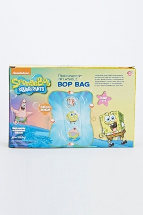 Spongebob Square Pants Transparent Inflatable Bop Bag