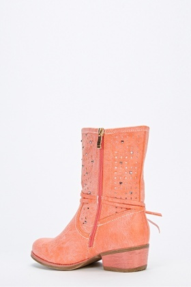 Cut Out Studded Boots
