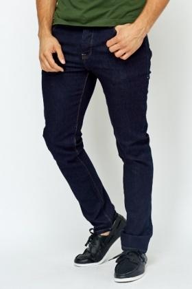 Bootleg Dark Blue Denim Jeans - Just £5