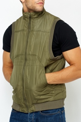 Padded Olive Body Warmer