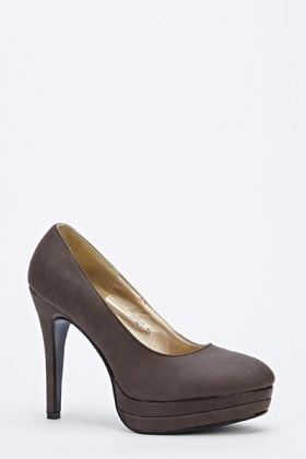 Mid Faux Leather Court Shoes