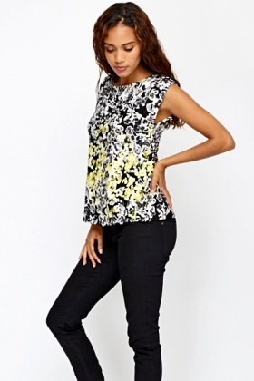Brush Print Top