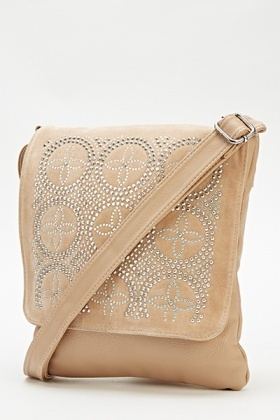 Encrusted Flap Crossbody Bag