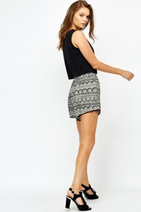 Tribal Print Shorts