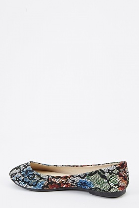 Floral Mesh Overlay Flats
