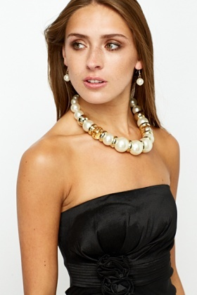 Large Faux Pearl Necklace
