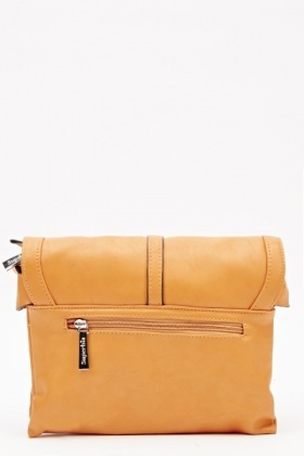 Mustard Faux Leather Satchel