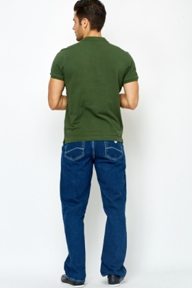 Straight Fit Dark Denim Jeans