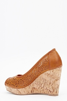 Cut Out Cork Effect Wedges