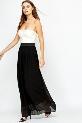 Bandeau Contrast Contrast Dress