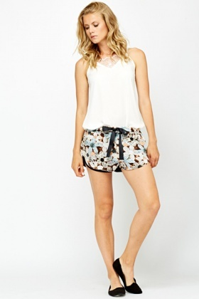 Floral Printed Runner Shorts