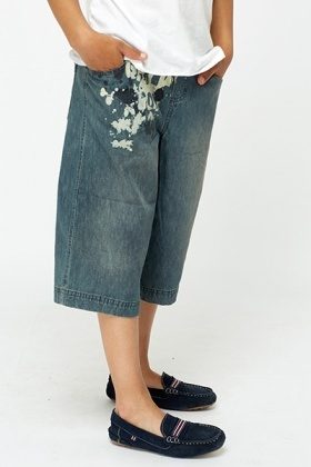Denim Cropped Jeans
