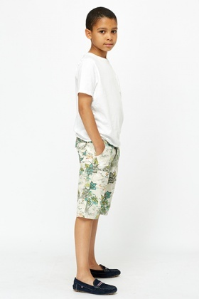 Floral Cargo Shorts