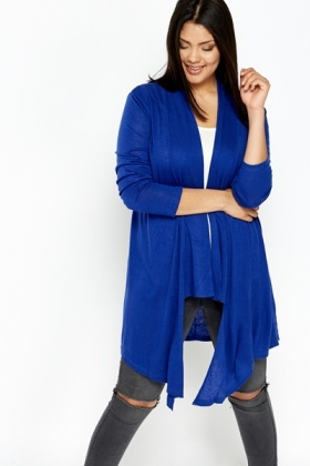 Royal Blue Waterfall Cardigan