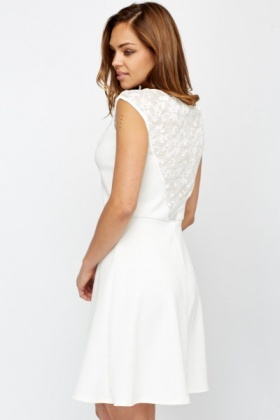 Skater Lace Yoke Dress