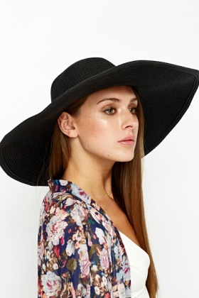 Black Wide Brim Hat