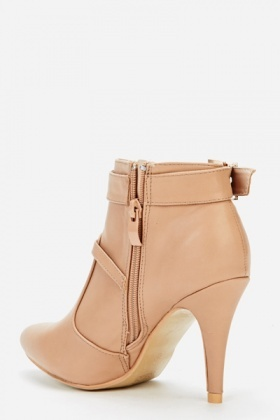 Buckle Side Ankle Boots
