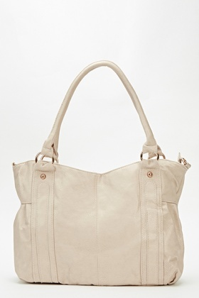 Curve Top Faux Leather Bag